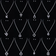 12 Styles BRIDAL/WEDDING CRYSTAL NECKLACE & EARRING SET JEWELRY SETS Silver Gift
