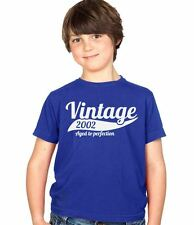 Vintage 2002 12th Birthday Childs Present Party Gift Kids Boys & Girls T-Shirt