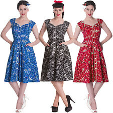 Hell Bunny Colorado Paisley Cow Girl Western Vintage Style 50S Party Prom Dress