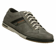 Mens Skechers Lanyard Passport Grey Casual Lace Up Shoes Trainers Sizes 6 & 7