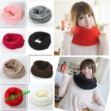 New Fashion Unisex Winter Knitting Wool Collar Neck Warmer Scarf Shawl 9 Colors