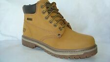 6606 WHEAT SKECHERS SHOES ANKLE UTILITY BOOT MEN NEW COMFORT LEATHER MEMORY FOAM