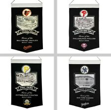 "Choose Your MLB Baseball Team 20"" x 15"" Stadium Embroidered Wool Banner Flag"