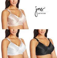 Just My Size Satin Stretch Wirefree Bra - Style 1960 - All Colors