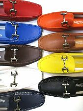 Mens Shoes Casual Driving Moccasins Loafer Slip-on Synth Leather New