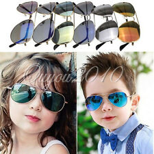 Boys Girls Kids Fashion Sunglasses Mirror Reflective Lens Wayfarer Sunglasses