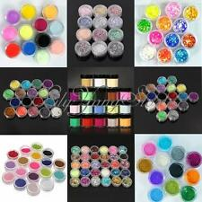 12/18/24 Colors Glitter Powder Dust Nail Art Acrylic UV Gel Tips Set Decoration