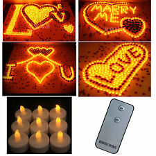 Pro Flameless LED Wedding Tea Light Tealight Candle Yellow & Remote Control