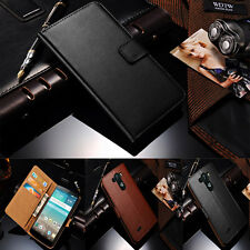 Genuine Real Leather Flip Card Wallet Stand Cover Case For LG Optimus G3 D850