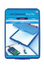 A4 Clipboard Box File Durable Waterproof Filing Office Storage Case  3 Colours
