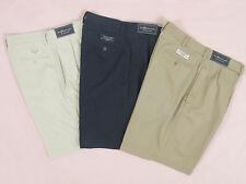NEW! NWT! Polo Ralph Lauren Classic Tyler Style Pleated Shorts! Tan  Navy  Stone