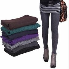 Fashion Women Lady Slim Stretchy Knit Thick Tights Warm Pants Stirrup Leggings