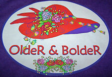 "PURPLE T-SHIRT ""OLDER & BOLDER"" FOR RED HAT LADIES OF SOCIETY IN PURPLE"