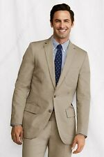 LANDS' END Men's 38 Khaki Tailored Fit Supima Cotton Twill Sportcoat *NWT $198