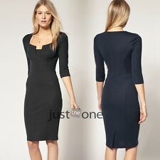 Elegant Womens Fitted Formal Evening Party Ladies Pencil Bandage Bodycon Dress