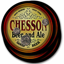 Chesson Beer and Ale Coasters - 4pak - Great Gift