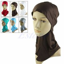 Hot Hijab Under scarf Hat Cap Bone Bonnet Islamic Headwear Band Neck Chest Cover