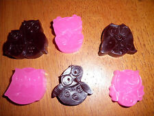 SCENTED WAX TARTS 1 OUNCE BAG OWL SHAPE SO CUTE OVER 300 SCENTS