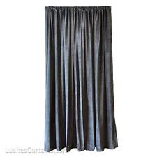 Black Custom Theatre Stage Hall Velvet Curtain Drapery 16ft High Long Drop Panel