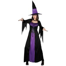 SPELLBOUND WITCH LADIES HALLOWEEN FANCY DRESS COSTUME WITCHES OUTFIT + HAT 10/28