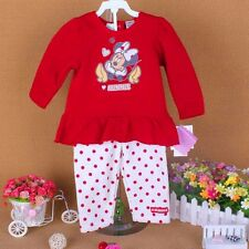 sale cute cotton girl sets outfits dress top & pants baby clothes for 1-5Y R42