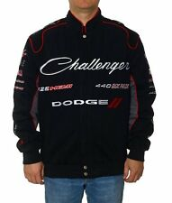 Dodge Challenger Collage Racing Jacket Adult Black Twill JH Design Jackets