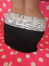 Victorias Secret Rhinestone Zebra Foldover Yoga Mini Short Skirt Spandex PiNK