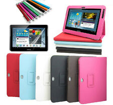 For Samsung Galaxy Tab 2 10.1 P5100 P5113 P5110 Leather Case Cover & Film Stylus