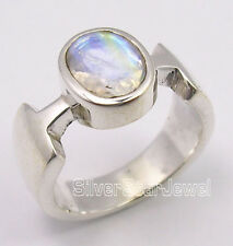 925 Silver RAINBOW MOONSTONE EXCLUSIVE Ring Any Size
