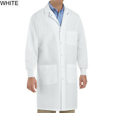 New Unisex White Lab Coat with Cuffs size xs,s,m,l,xl,2xl,3xl by Red Kap KP72