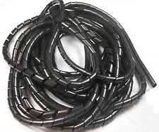 Spiral Cable Wrap, Loom & Cable Management, Black Cable Tidy, Clear Cable Tidy