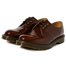 DR MARTENS MADE IN ENGLAND 1461 3 EYE SHOE TAN BOANIL BRUSH CALF LEATHER