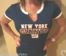 NEW YORK GIANTS WOMANS BLING JERSEY SHIRT NEW WITH TAGS TEAM NFL