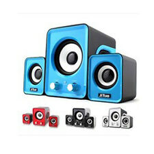Mini Computer Loud Speaker 2.1 Multimedia Stereo Notebook Portable USB Subwoofer
