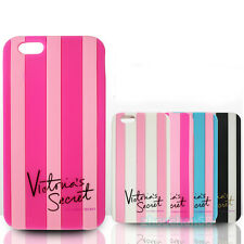 Victoria/'s Secret Pink Luxe Silicone Stripe Case Covers For iphone 6 5 5s 5c 4