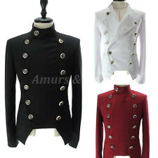 FASHION Men's Gentleman Casual Double Breasted button Slim Jackets Blazers Coats