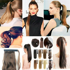 Real Feel Long Thick Clip In Ponytail Hair Extensions Claw Wrap On Hair Piece mm
