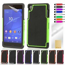 NEW SHOCK PROOF DUAL RUBBER GRIP CASE COVER FOR Sony Xperia Z3