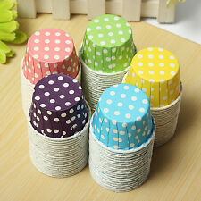 20pcs Paper Cake Cup Liners Baking Cupcake Cases Muffin Cake Colorful Wave Point