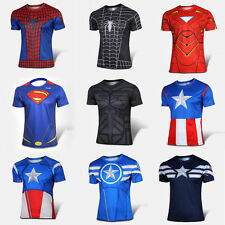 Superhero Costume Marvel Comics T-shirt Men Avengers Cycling Jersey short T001