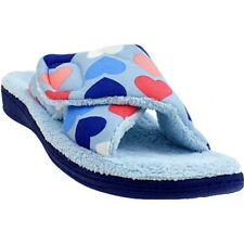Ladies Orthaheel Relax BLUE HEARTS Slipper NEW