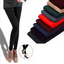 Warm Winter Brushed Fleece Lined Thermal Tights Pants Skinny Slim Leggings JT12