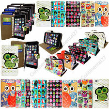 Top Selling Design Owl Printed Wallet PU Leather Magnetic Flip Case Cover+Stylus