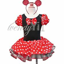 Toddlers Baby Girls Minnie Mouse Party Xmas Halloween Costume Tutu Dress + Ears