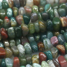 Genuine Rainbow Fancy Jasper India Agate Nugget Loose Beads Free Form Beads 16""