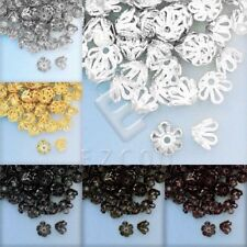 140-170pcs 10g Iron Flower Bead Caps Jewelry Findings Wholesale 4x6x6mm 6 Colors