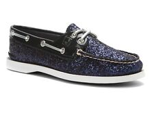 Sperry Top-Sider Women's A/O, Navy Glitter Patent Boat Shoe