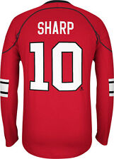 Chicago Blackhawks Patrick Sharp #10 Long Sleeve Jersey Tee NHL Reebok Shirt