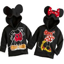 New Cool Boys Girls Kids Minnie Mickey Mouse Coat Jacket Sweater Hoodies 1-6Y