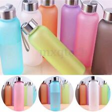 600ML Outdoor Sport Portable Camping Cycling Bike Frosted Water Drink Bottle